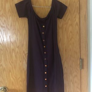 Purple Midi Dress